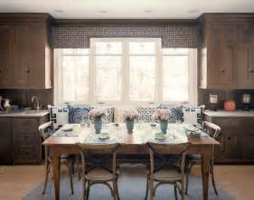 built in banquette cottage kitchen bardes interiors