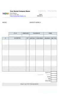 Rental Invoice Template Word by Rental Invoicing Template