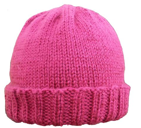 free hat knitting patterns needles ribbed brim hat pattern kniftybits s