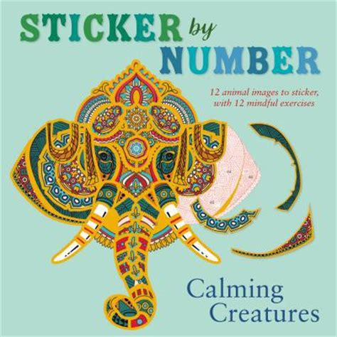sticker by number calming creatures 12 animal images to