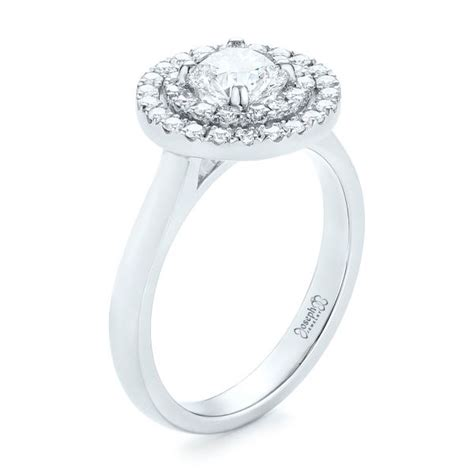 custom halo engagement ring 103306