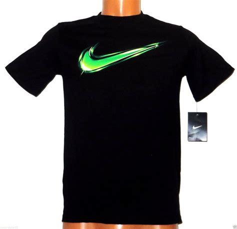 T Shirt Green Nike 6 0 boy s nike black t shirt electric green swoosh sports