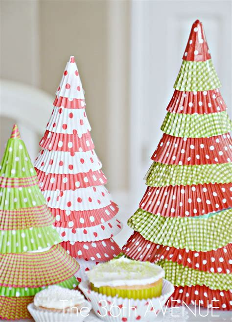 pinterest christmas made out of tulldecorating ideas make cupcake liner trees tutorial tatertots and jello