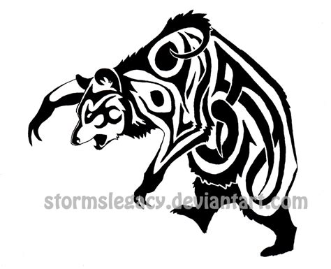 tribal bear tattoo by stormslegacy on deviantart