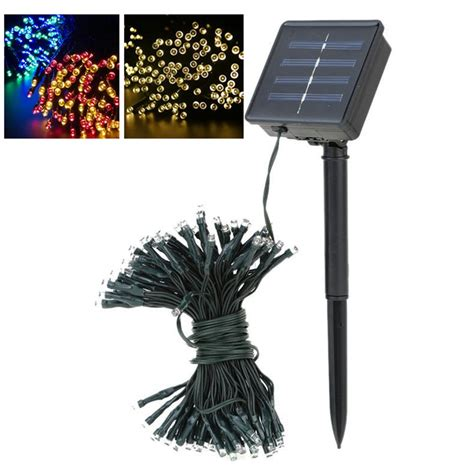 Decorative Solar Lights Outdoors Aliexpress Buy Solar Led String Ls 12m 100leds Flower Blossom Decorative Lights