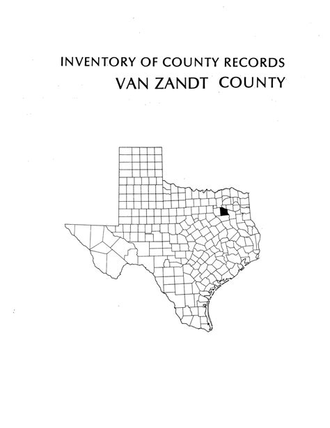 Zandt County Arrest Records Inventory Of County Records Zandt County Courthouse