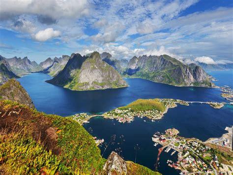 landscape  lofoten islands norway beautiful rocky