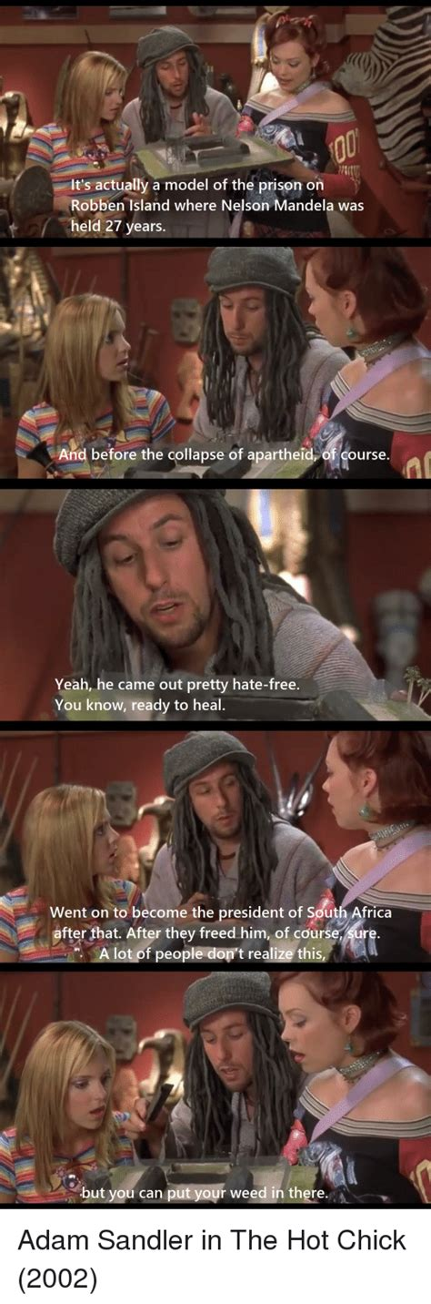 hot chick adam sandler 25 best memes about you can put your weed in there you