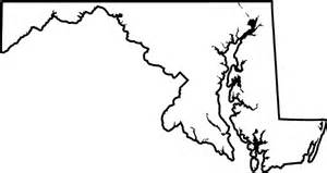 Maryland State Outline Map by Maryland Outline Gallery