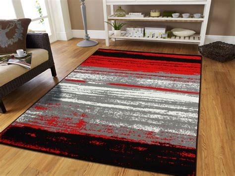 rugs room large grey modern rugs for living room 8x10 abstract area rug black gray 5x7 ebay