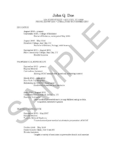 Curriculum Vitae: The Course of Our Lives   Kaplan Test Prep