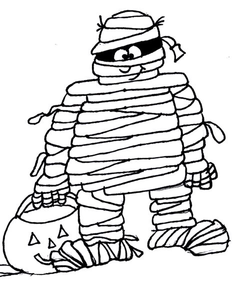 halloween mummy coloring page festival collections