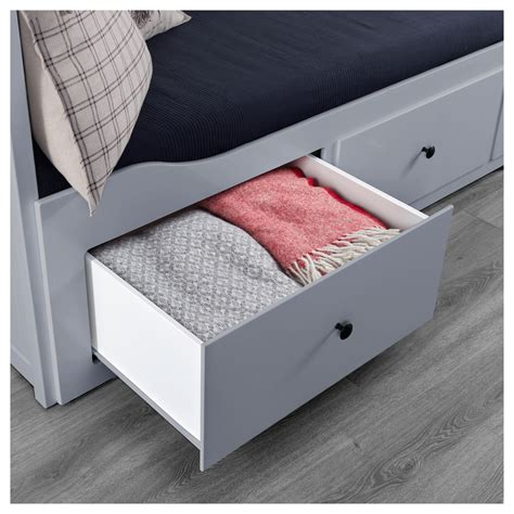 ikea bed with drawers hemnes day bed frame with 3 drawers grey 80x200 cm ikea