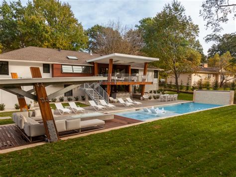 modern backyard midcentury modern backyard with covered lounge and pool 2017 hgtv