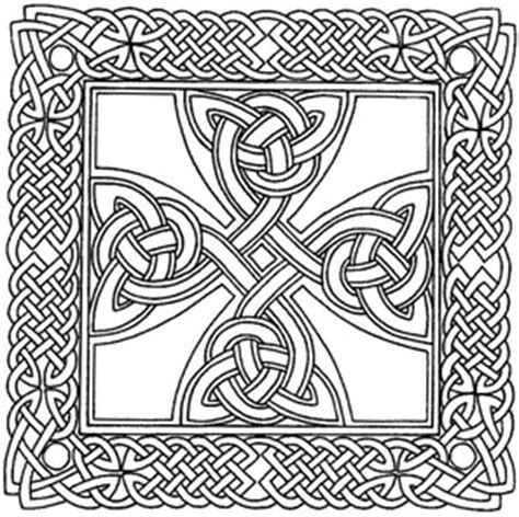 intricate cross coloring pages free printable celtic cross patterns