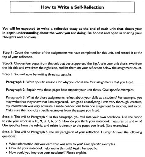 how to write a self reflection paper inside earth 6j1 mrs johnson