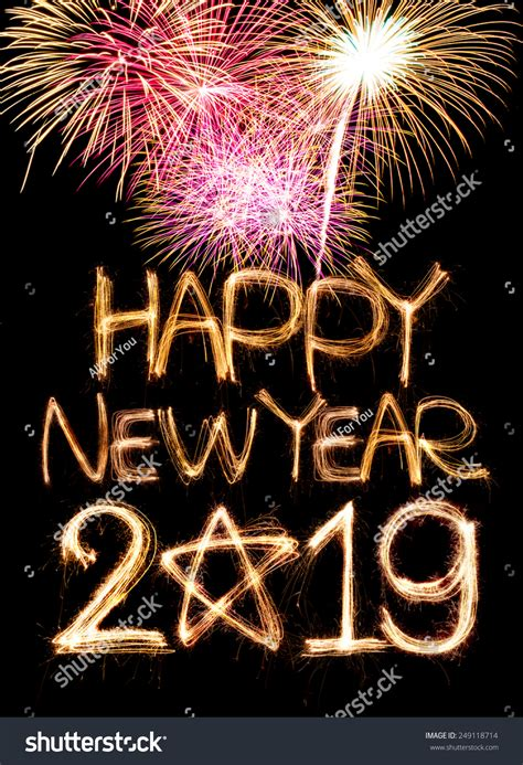 new year 2019 happy new year 2019 word made stock photo 249118714