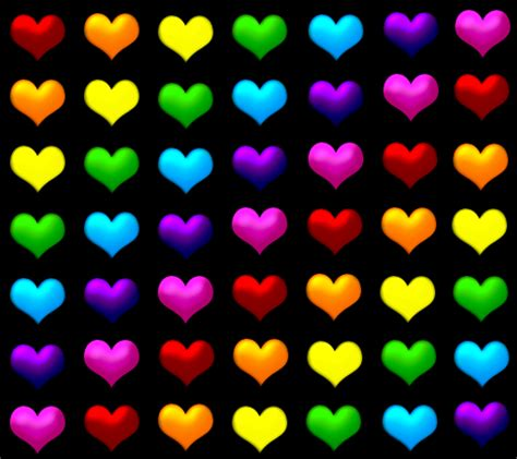 colorful wallpapers of love colorful hearts design colorful background wallpapers