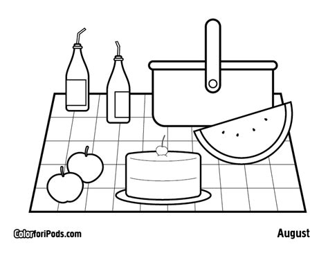 a family picnic coloring pages
