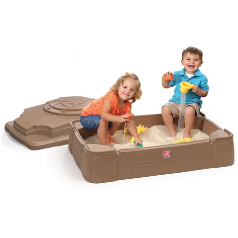 step 2 sandbox with bench play store sandbox kids sand water play step2