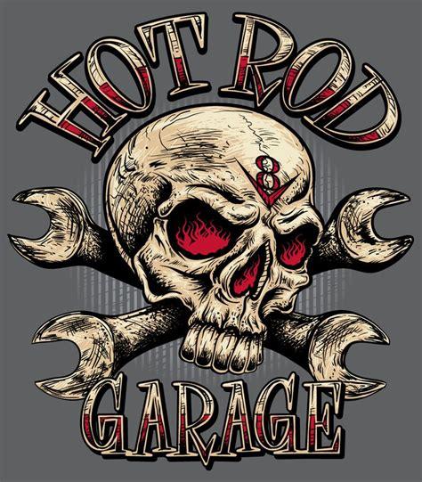Car Garage Designs quot rat rod quot sign with skull szukaj w google tat