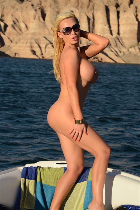 nikki benz stripping and posing naked on boat my
