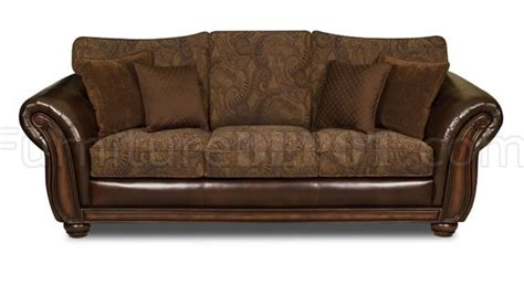 Chenille And Leather Sofa with Vintage Chenille Sofa Loveseat Set W Brown Bonded Leather Base