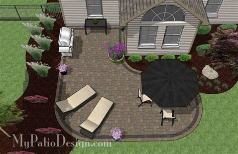 l shaped patio design patio layout and material list mypatiodesign com