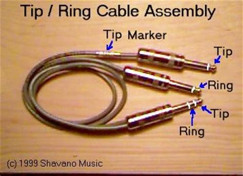 tip and ring colors shavano ring tip cables