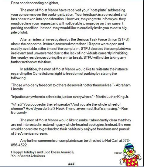 Response Letter To Investigation Total Frat Move Mizzou