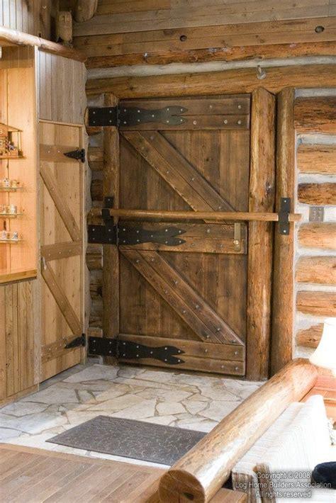 Log Home Front Door With Bar Rustic Pinterest Log Home Front Doors