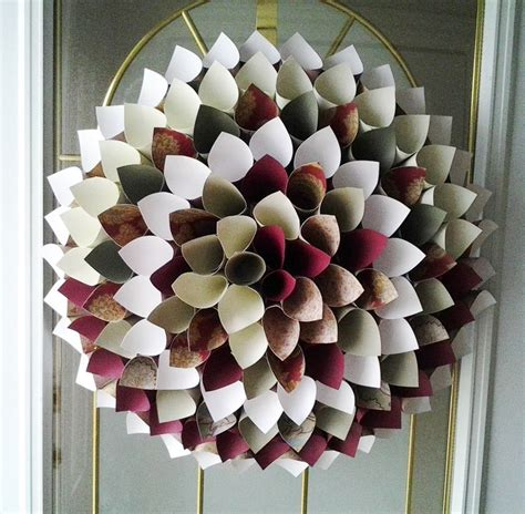 How To Make Paper Cones For Flowers - paper cone wreath paper flowers paper crafts