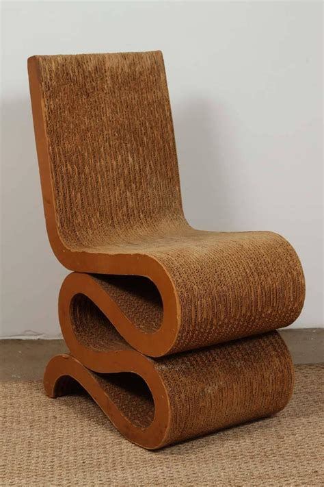 frank gehry cardboard chair 1972 frank gehry cardboard quot wiggle chair quot at 1stdibs