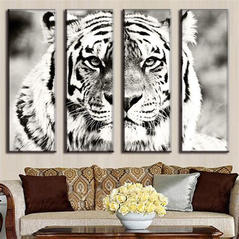 White Tiger Home Decor by Aliexpress Buy Modern Animal Canvas Painting Charming White Tiger Home Decor An4002 From
