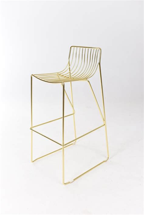 Gold Wire Bar Stools by Wire Bar Stool Gold Black Label