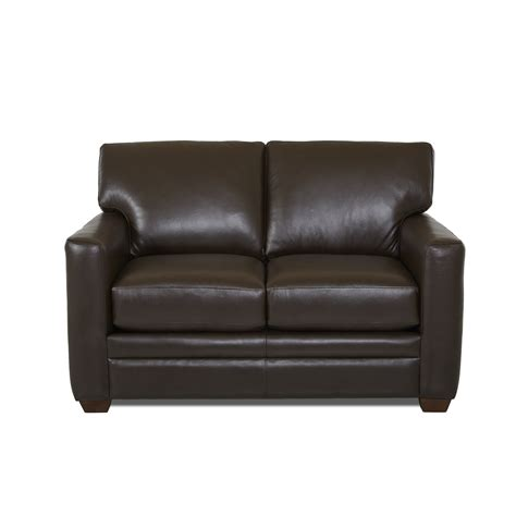 leather loveseat sleeper sofa wayfair custom upholstery carleton leather sleeper sofa