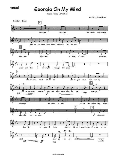 hkmusic noten georgia   mind bigband vocal
