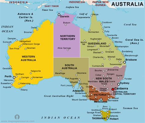 australia map with countries australia country profile free maps of australia open