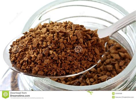 Coffee Powder golden roasted instant coffee powder stock photo image