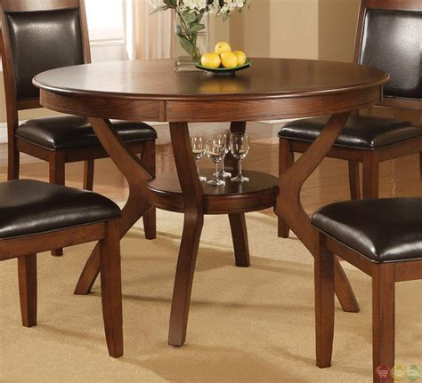 nelms walnut finish casual 5 dining room set