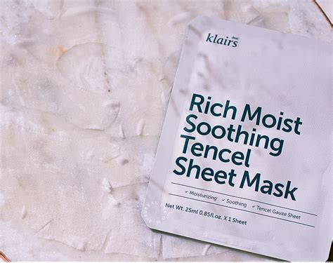 Klairs Rich Moist Soothing klairs rich moist soothing tencel sheet mask review