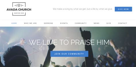 theme avada church how to build a beautiful church website today step by step
