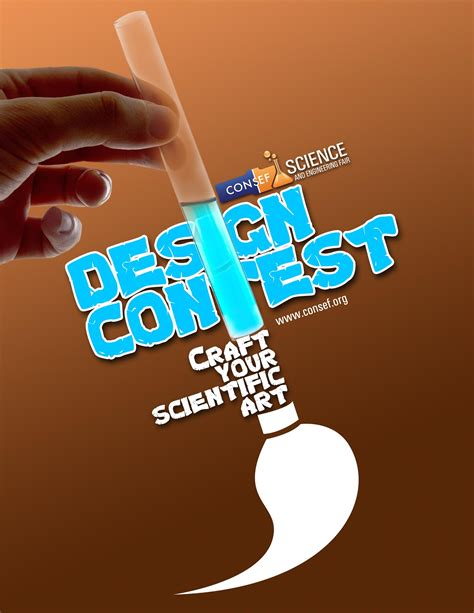 design a competition poster consef concept schools science and engineering fair