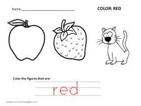 color word recognition worksheets for kindergarten 1000