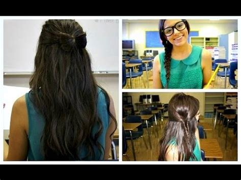 unique back to school hairstyles quick unique back to school hairstyles youtube