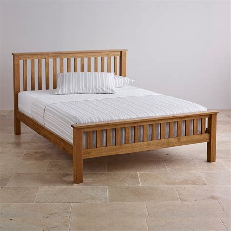 4ft 6 double bed original rustic double bed in solid oak oak furniture land
