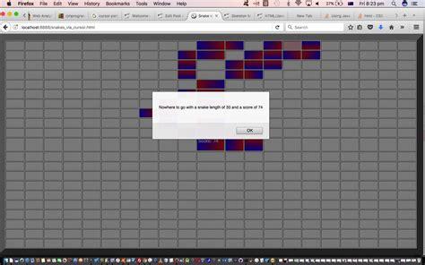 html javascript guided snake game drag and drop tutorial robert metcalfe blog wordpress site copyright