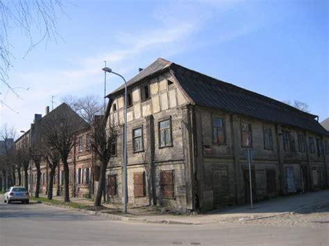 pre war architecture quarter with pre war jelgava architecture style buildings