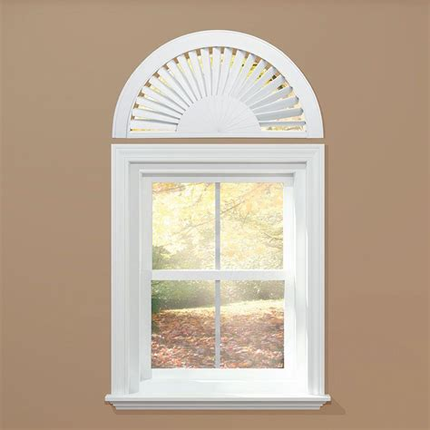 Fan Shades For Arched Windows Designs Homebasics Sunburst Style Faux Wood White Arch Price Varies By Size Qsaw0002 The Home Depot