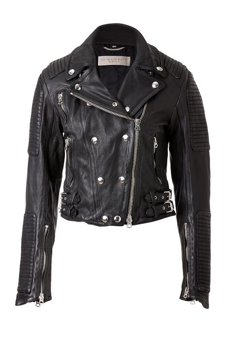 lyst burberry brit cropped leather motorcycle jacket